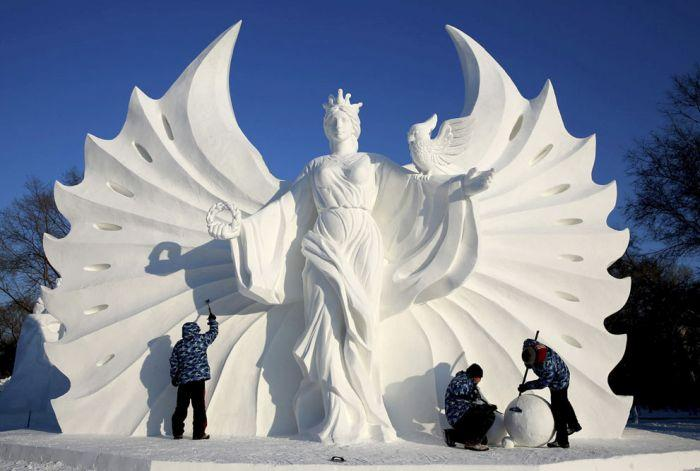 As esculturas surpreendentes do 2015 Harbin Ice E Festival de Neve (7)