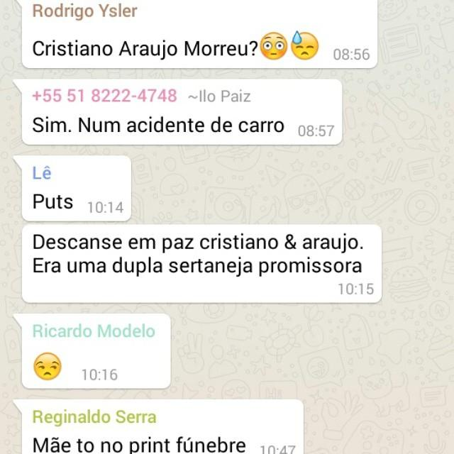Sobre a morte do Cristiano Araújo