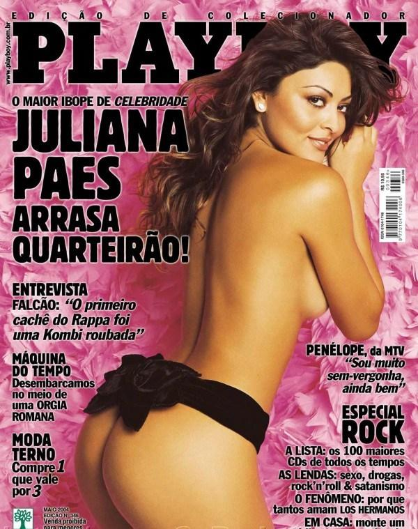 Juliana Paes peladinha na revista da Playboy