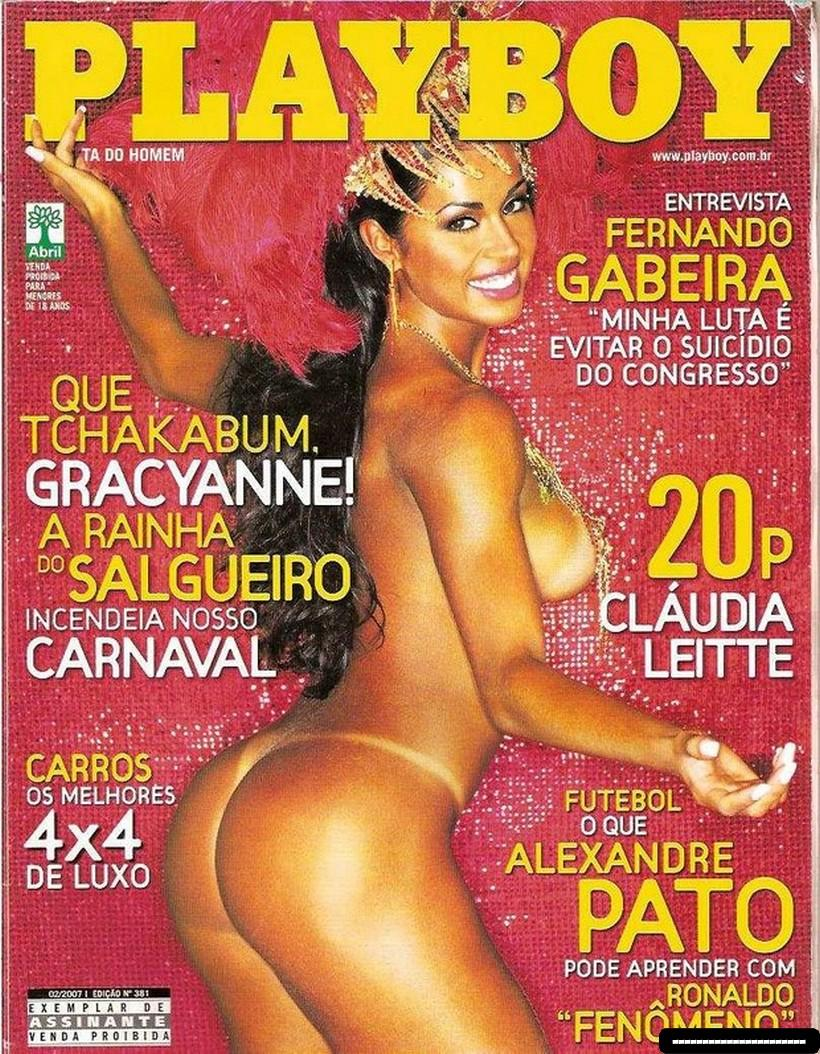 Fotos Gracyanne Barbosa nua na Playboy de Carnaval