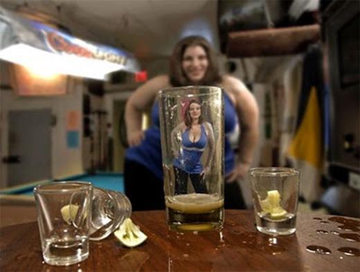 ilusao de otica alcool
