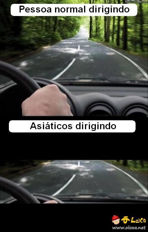 asiaticos dirigindo
