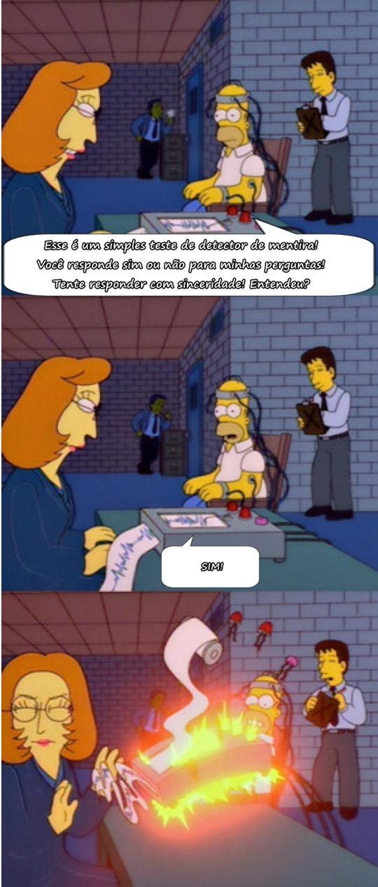 Quem assiste um dos melhores seriados de animação na minha opinião, Os Simpsons, já deve ter visto esse episódio, um dos mais hilários com Homer! Muito bom o mentiroso
