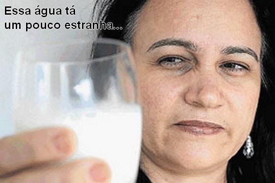 agua no leite