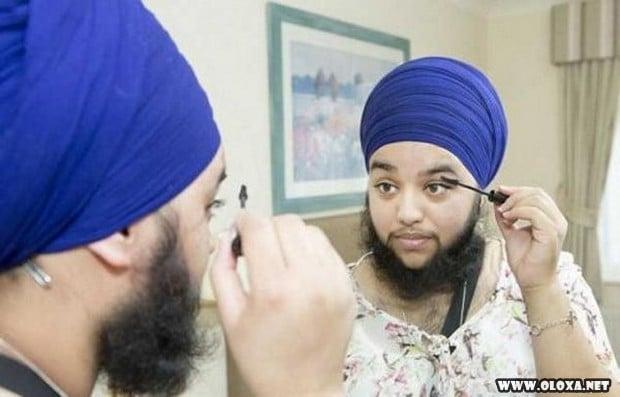 Mulher deixa de raspar a barba para se tornar mais sexy (2)