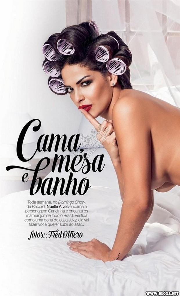 Playboy de Fevereiro - Nuelle Alves (Dona Candinha)