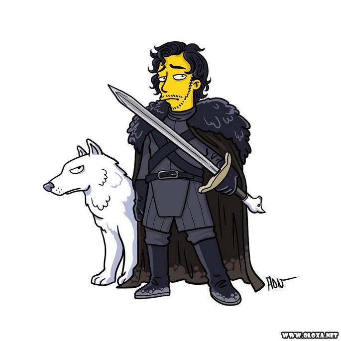 Personagens de Game Of Thrones estilo Os Simpsons 21