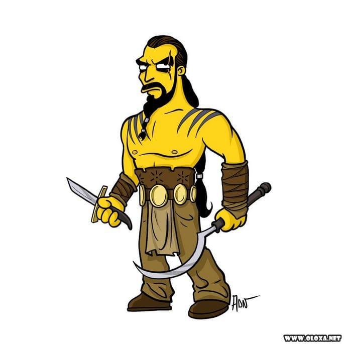Personagens de Game Of Thrones estilo Os Simpsons 22