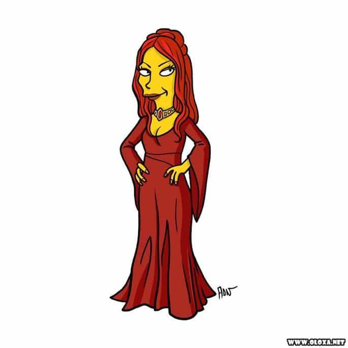 Personagens de Game Of Thrones estilo Os Simpsons 12