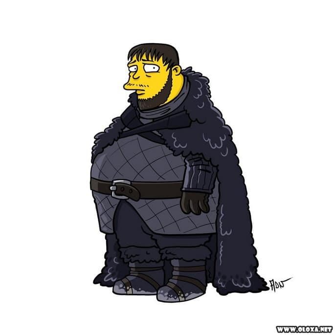 Personagens de Game Of Thrones estilo Os Simpsons 13