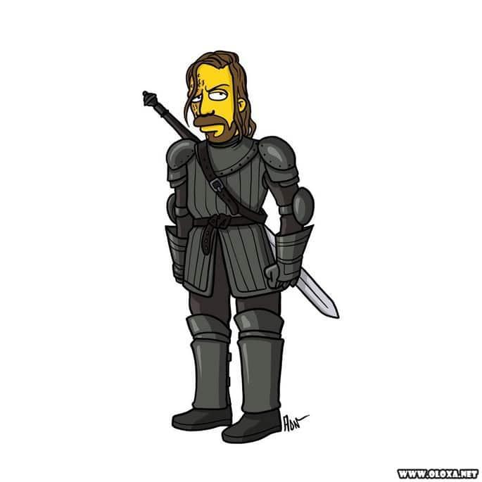 Personagens de Game Of Thrones estilo Os Simpsons 15
