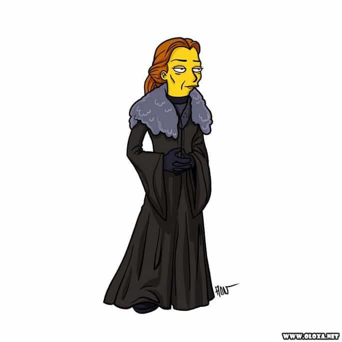 Personagens de Game Of Thrones estilo Os Simpsons 16