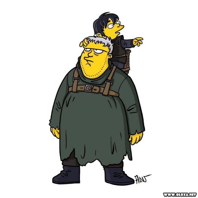 Personagens de Game Of Thrones estilo Os Simpsons 17