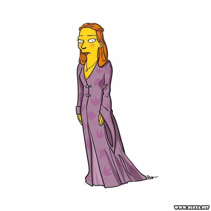 Personagens de Game Of Thrones estilo Os Simpsons 18