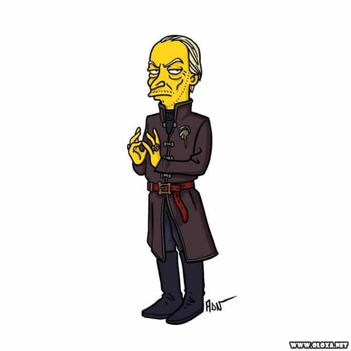 Personagens de Game Of Thrones estilo Os Simpsons 19