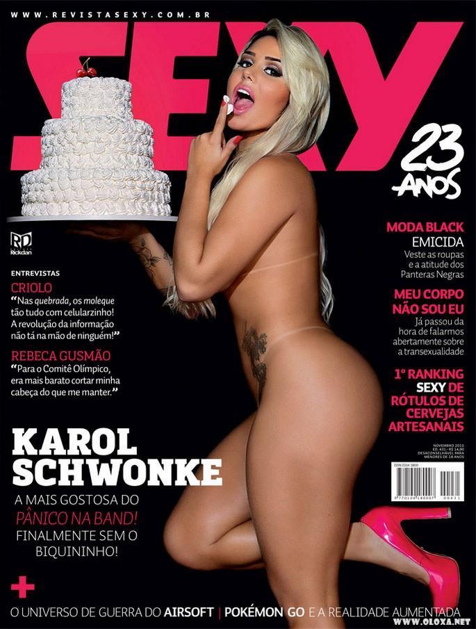 Karol Schwonke nua na Revista Sexy de Novembro