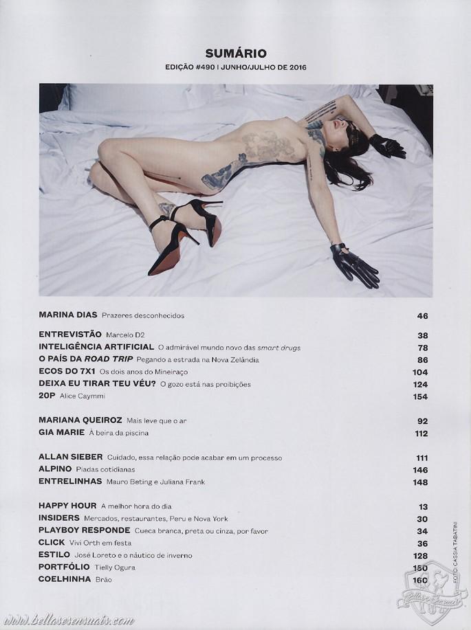 Marina Dias Nua na Playboy de Junho  Julho 2016 (2)