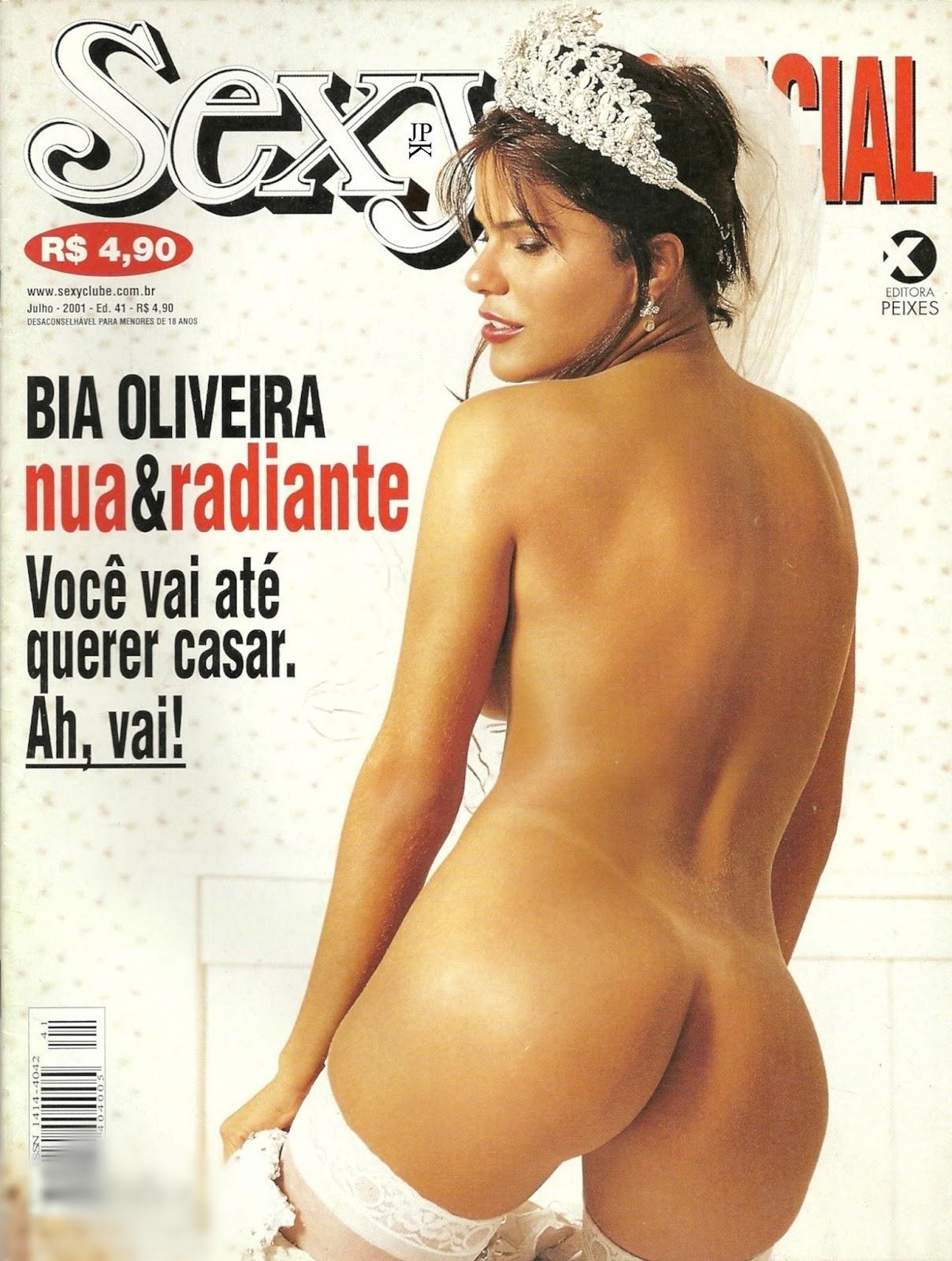 Bia Oliveira nua na antiga e reliquia revista da Sexy