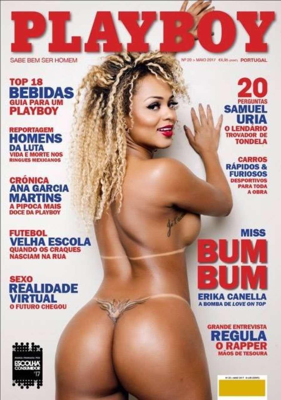 Erika Canella nua na revista da Playboy de Portugal