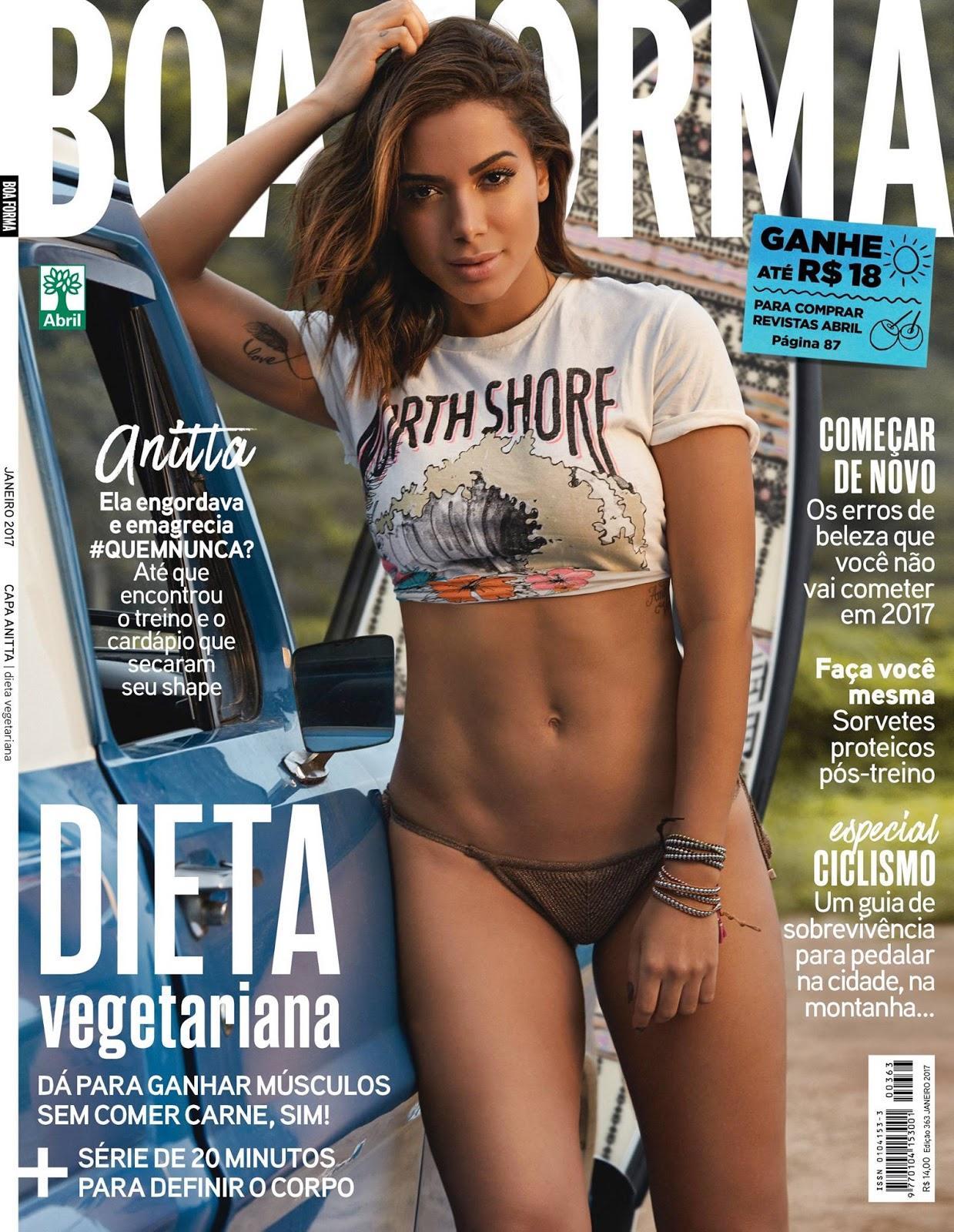Anitta semi nua na revista Boa Forma