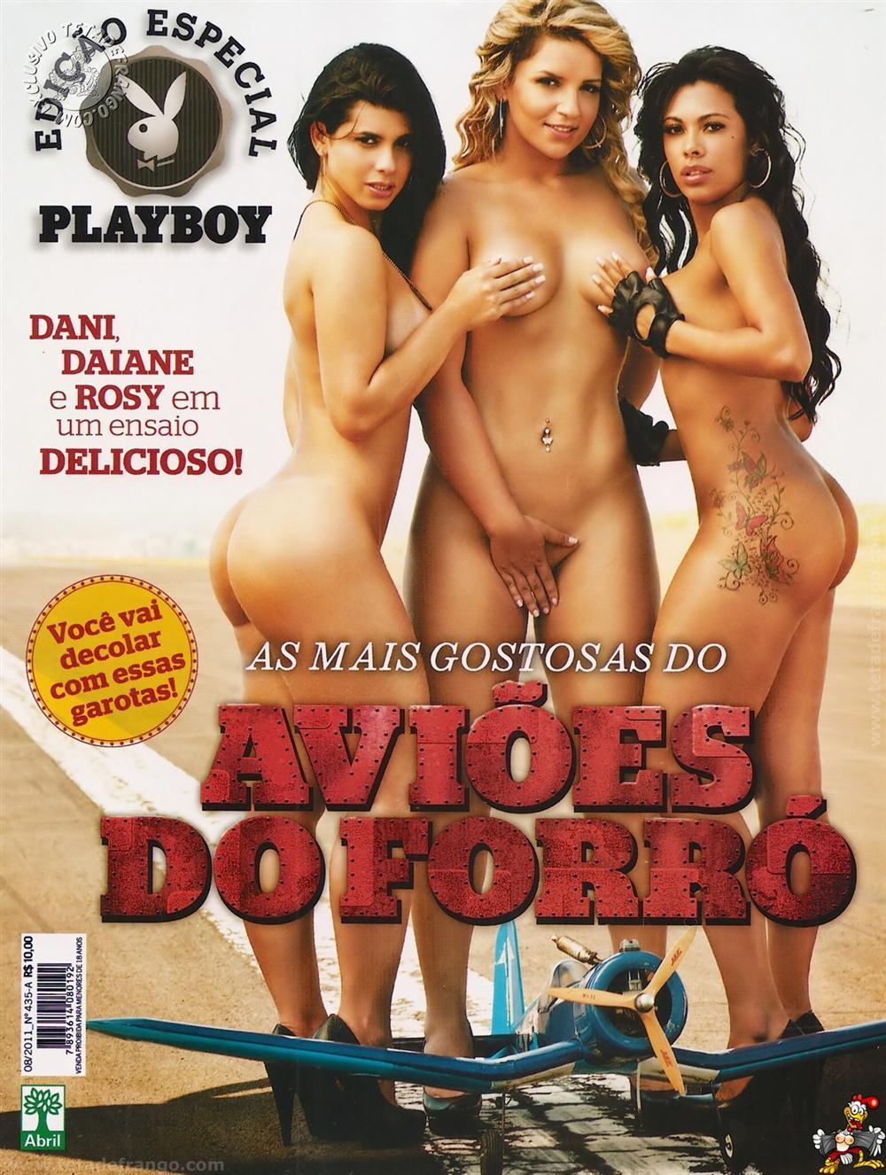 Dançarinas do Avião do Forró nua na capa da Playboy Especial