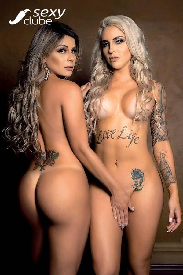 Vanessa Perez e Luanda Fraga nuas na Revista Sexy - Janeiro 43