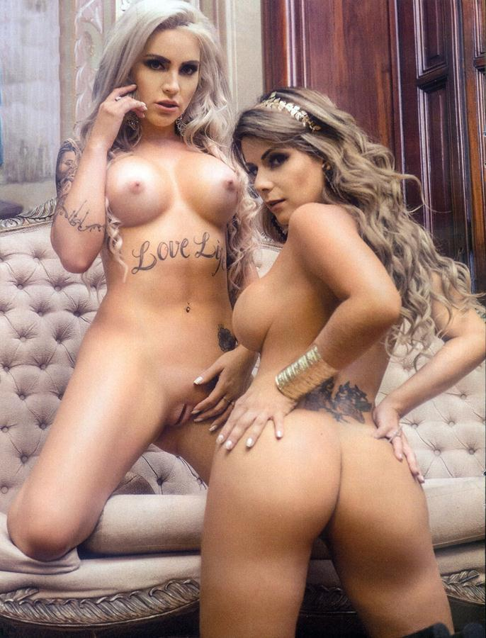Vanessa Perez e Luanda Fraga nuas na Revista Sexy - Janeiro 46