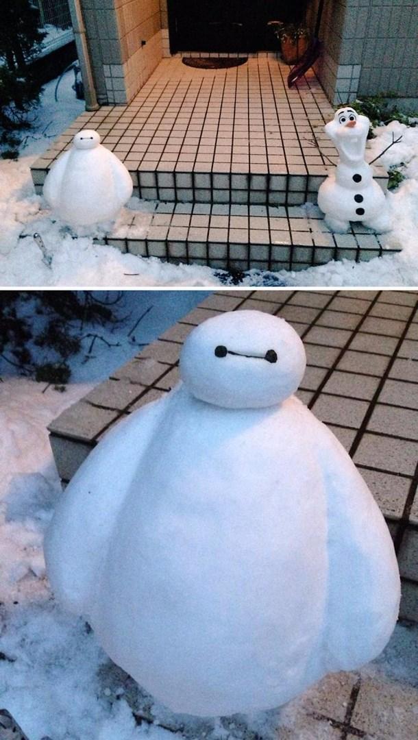 Veja a criatividade das pessoas quando neva no Japão 17