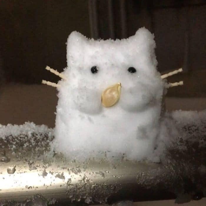 Veja a criatividade das pessoas quando neva no Japão 26