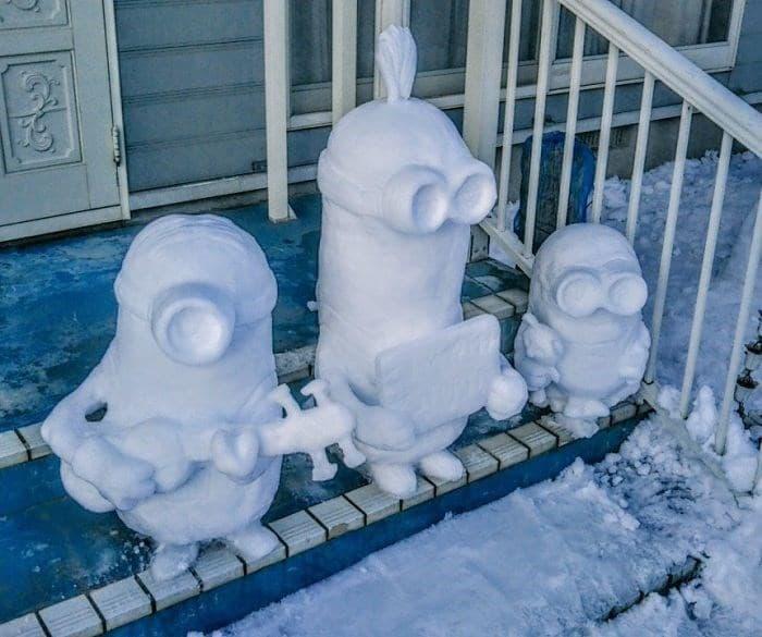 Veja a criatividade das pessoas quando neva no Japão 27
