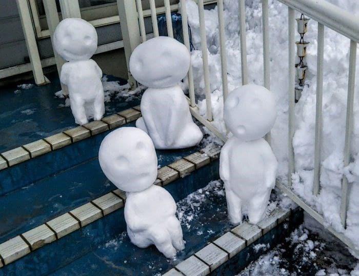 Veja a criatividade das pessoas quando neva no Japão 28