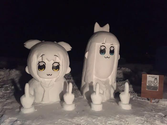 Veja a criatividade das pessoas quando neva no Japão 29