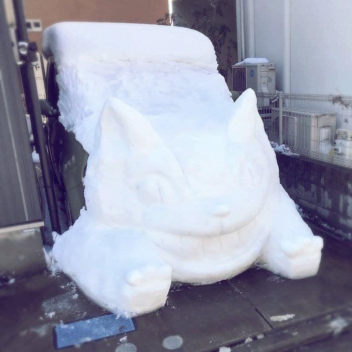 Veja a criatividade das pessoas quando neva no Japão 30