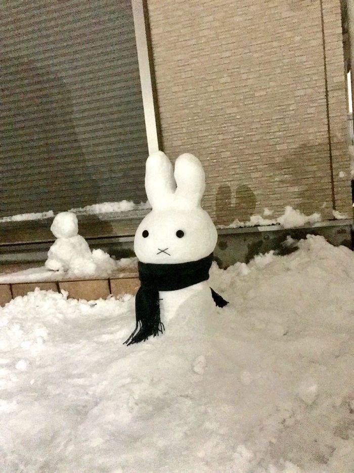 Veja a criatividade das pessoas quando neva no Japão 31