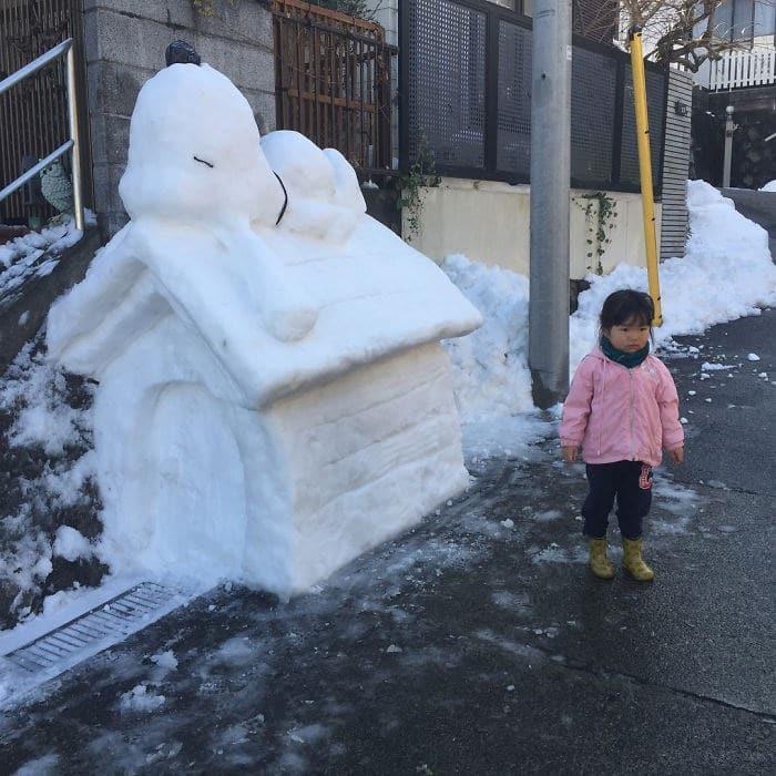 Veja a criatividade das pessoas quando neva no Japão 32