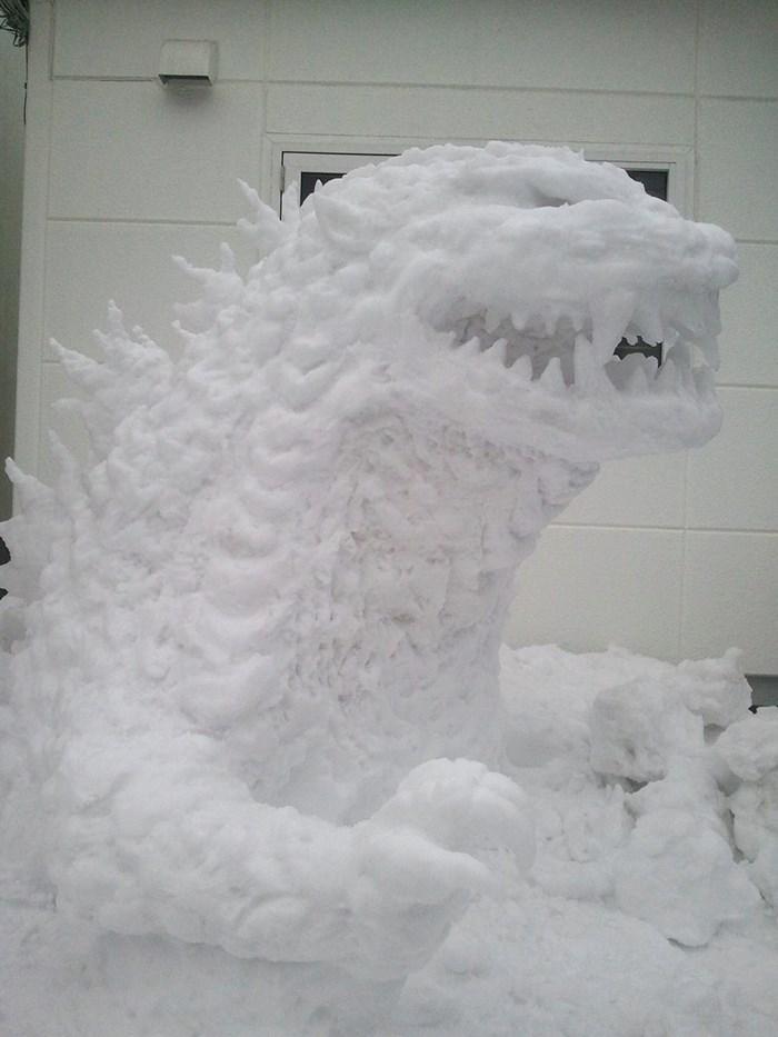 Veja a criatividade das pessoas quando neva no Japão 18