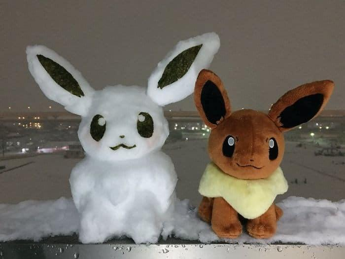 Veja a criatividade das pessoas quando neva no Japão 20