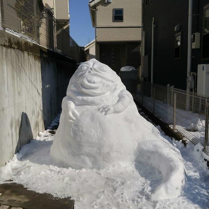 Veja a criatividade das pessoas quando neva no Japão 24