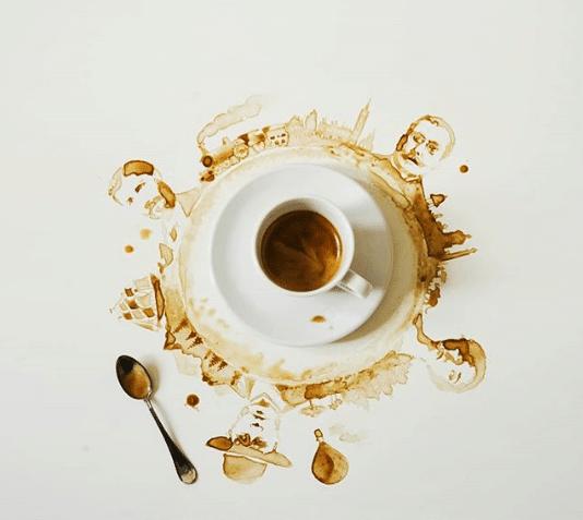 Veja o artista que transforma café derramando em imagens fantásticas 6
