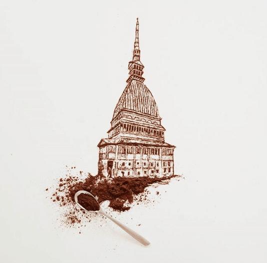 Veja o artista que transforma café derramando em imagens fantásticas 9