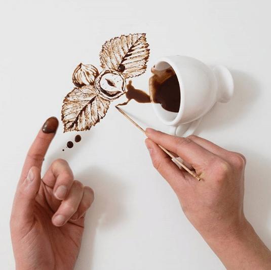 Veja o artista que transforma café derramando em imagens fantásticas 10