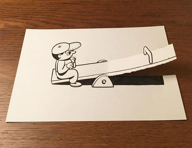 Artista faz desenho 3D com apenas dois materiais 24