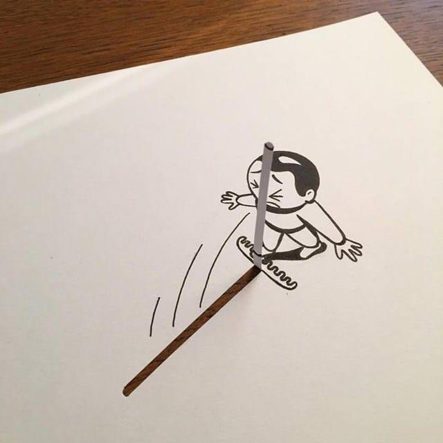 Artista faz desenho 3D com apenas dois materiais 25