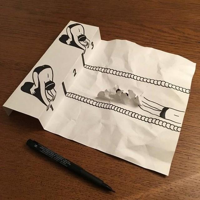Artista faz desenho 3D com apenas dois materiais 28