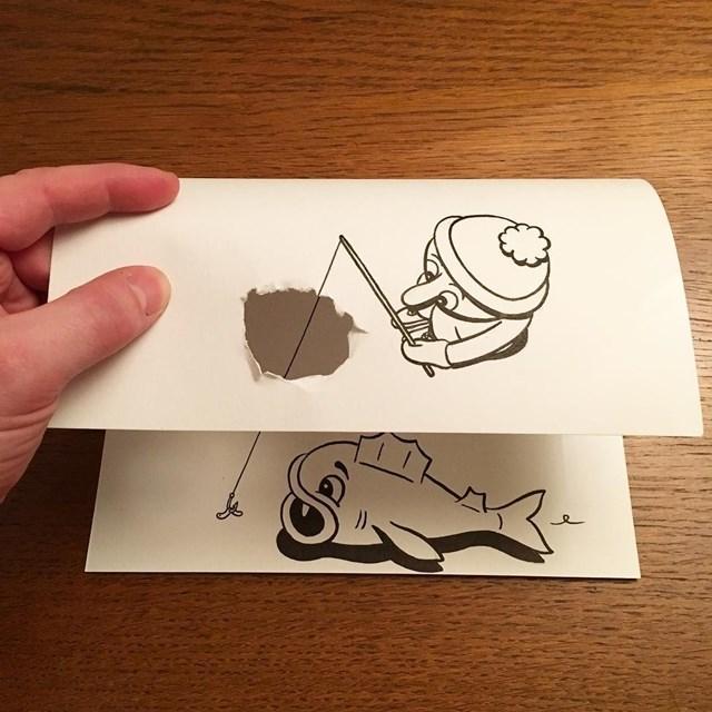 Artista faz desenho 3D com apenas dois materiais 18