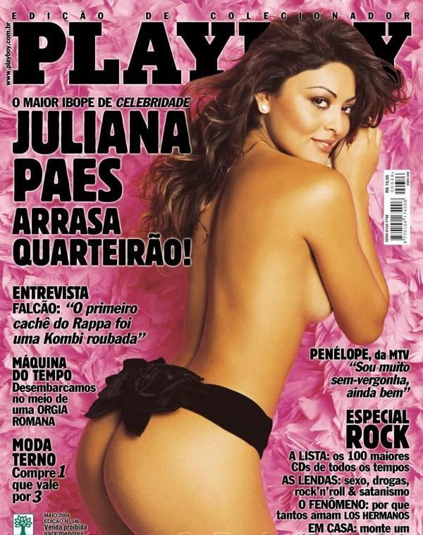 Juliana Paes peladinha na revista da Playboy