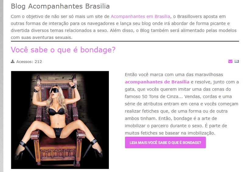 blog do site Brasil Lovers | acompanhantes de luxo em Brasília