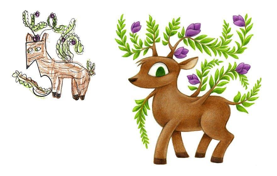 Conheça o ilustrador que recria desenhos feitos por crianças