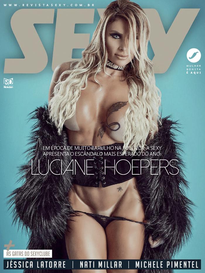 Luciane Hoepers loira gostosa e pelada na revista sexy